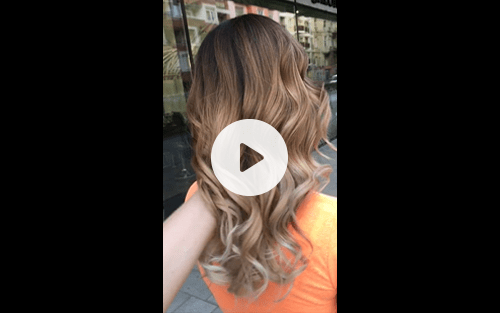 hair paint video